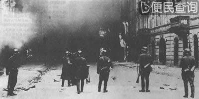 华沙犹太人区被毁灭