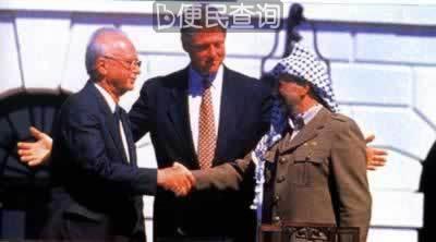 巴以签署加沙-杰里科自治原则宣言
