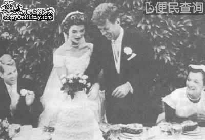 肯尼迪和杰奎琳结为伉俪