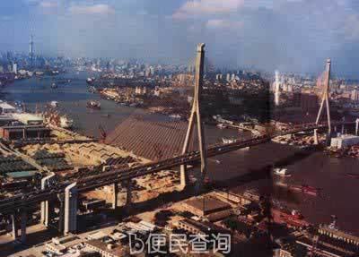 世界第一斜拉桥——杨浦大桥建成