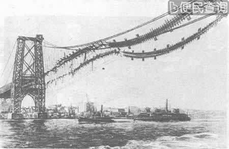 纽约威廉斯堡大桥起火