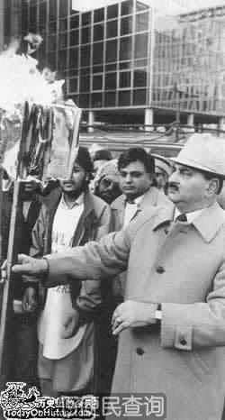 霍梅尼宣布判处英国作家拉什迪死刑