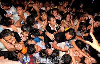 柬埔寨首都金边发生严重踩踏事件