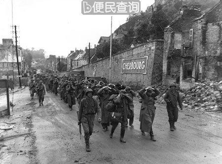 盟军完全肃清瑟堡港的残余德军