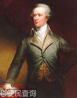 美国的开国元勋亚历山大·汉密尔顿逝世
