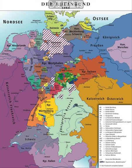 莱茵联邦成立