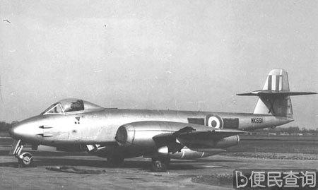 """英军的第一种喷气战斗机""""流星""""服役"""