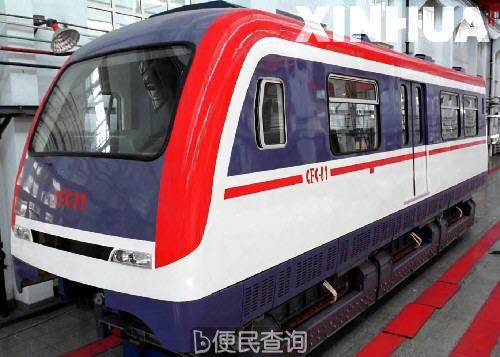 中国第一辆国产磁浮客车在长春客车厂竣工下线