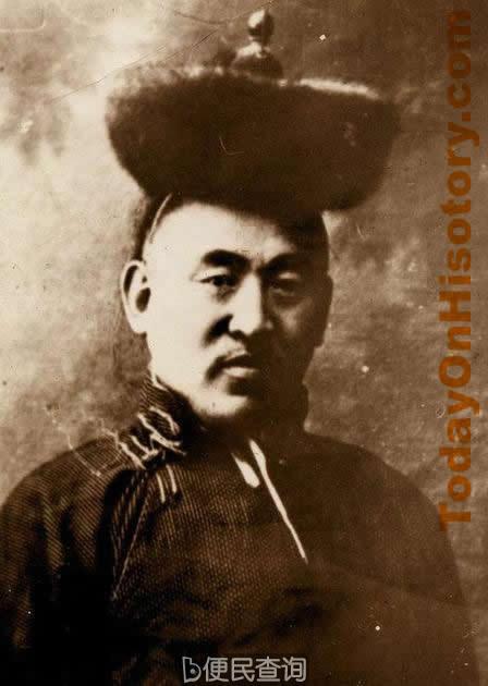 库伦活佛专使杭达亲王到俄京,答谢俄国承认外蒙古自治